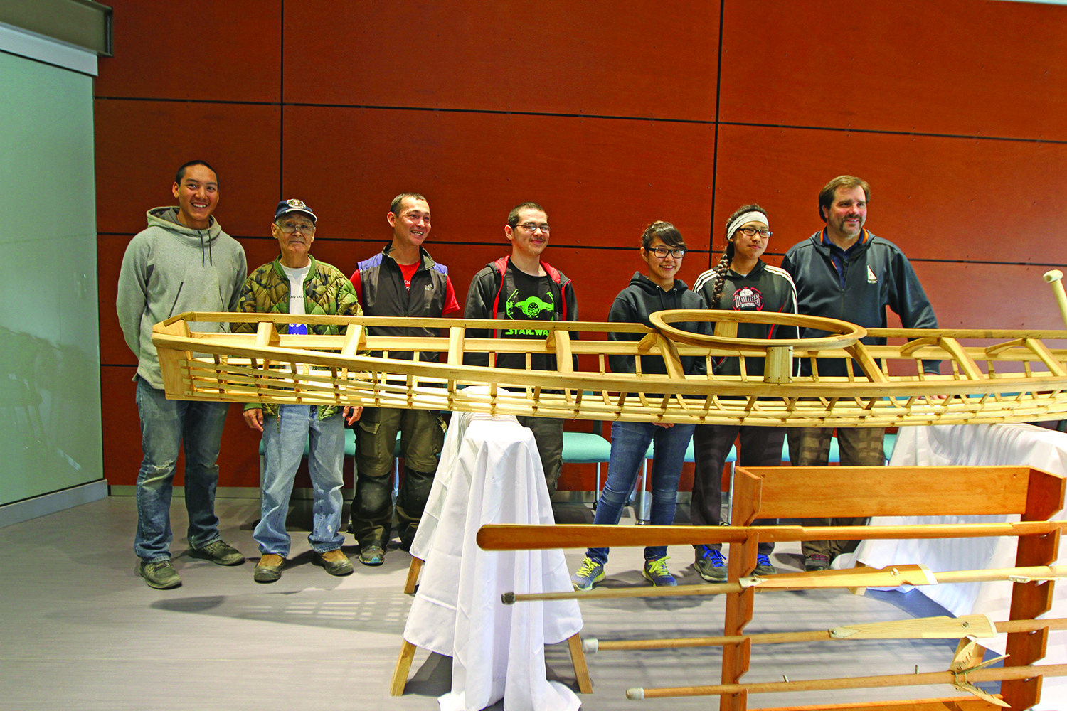 NACTEC students construct traditional King Island kayak