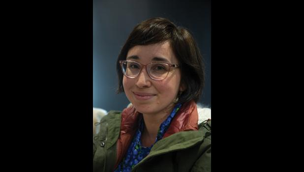 """POET –– Carrie Ayaġaduk Ojanen read from her book """"Roughly for the North"""" at Katirvik Saturday"""