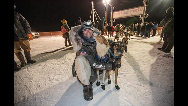 K300 CHAMPION— Matthew Failor of Willow won the 40th Kuskokwim 300 sled dog race last Sunday.
