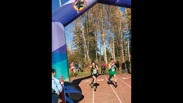 STATE XC—Ed Kokeok of Shishmaref is heading for the finish line.