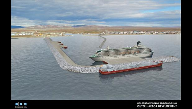 EXPANSION— The graphic shows the vision for a future Port of Nome.