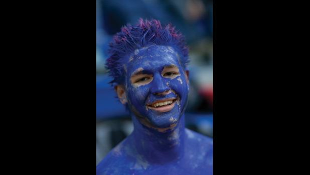 NANOOK BLUE – Aaron Motis turned blue before the Arctic Pinkies Tournament.