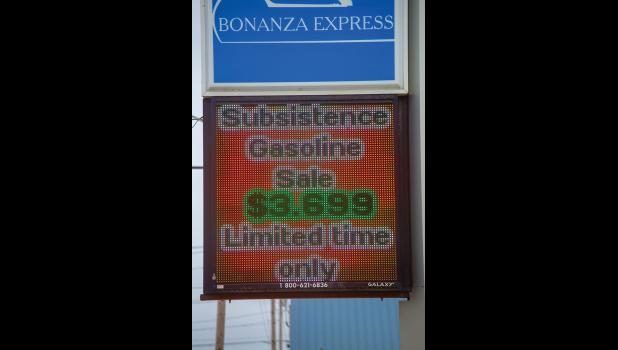 SUBSISTENCE SPECIAL – Bonanza Express on Bering St. in Nome lowered their price for unleaded gas to $3.699.