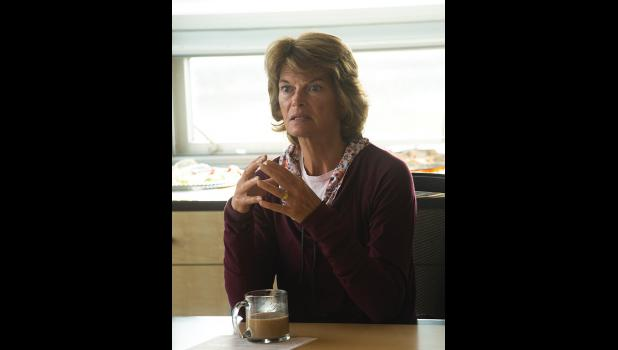 THE SENATOR – Sen. Lisa Murkowski joined a group of community leaders for breakfast at NSEDC Saturday morning to discuss issues of local importance.