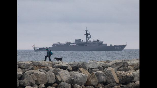 KASHIMA—The Japanese Naval training vessel Kashima stopped at Nome to pick up provisions and supplies last week. The ship is home to 310 naval cadets finishing their training.
