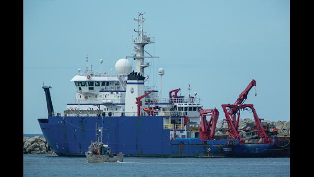 R./V Sikuliaq arrived in Nome on June 24, after its first cruise.