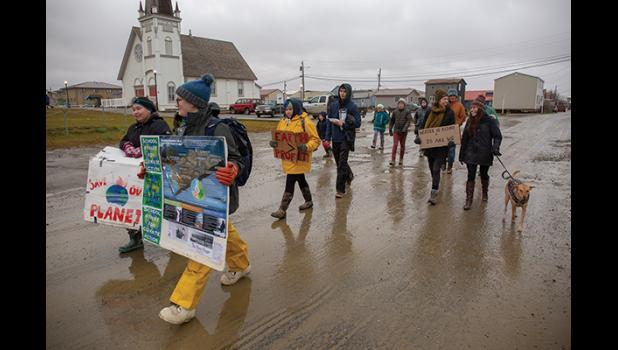 STUDENTS DEMAND ACTION— Students went on strike to draw attention to their concerns related to the climate crisis last Friday
