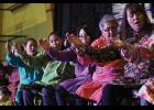 Photo by Diana Haecker INALIQ DANCERS— During last week's Kawerak/Rural Provider's Conference, evening entertainment included bench dance performances by Little Diomede's Inaliq Traditional Dancers.