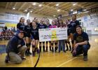 THE BIG CHECK  - The Arctic Pinkies tournament is a benefit fund raiser and this year the check went to the family of Jens Hildreth.